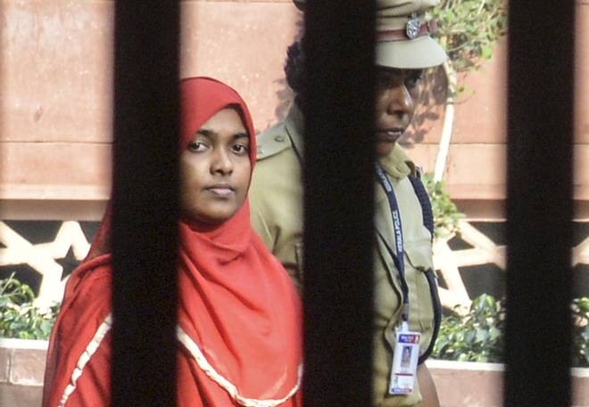 File Photo of Hadiya. On Monday, the SC allowed her to