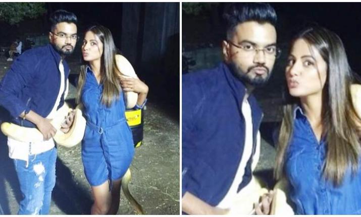 India Tv - hina khan and boyfriend
