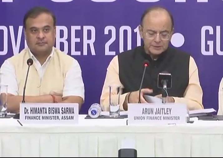 Arun Jaitley addressing media after GST Council meet in