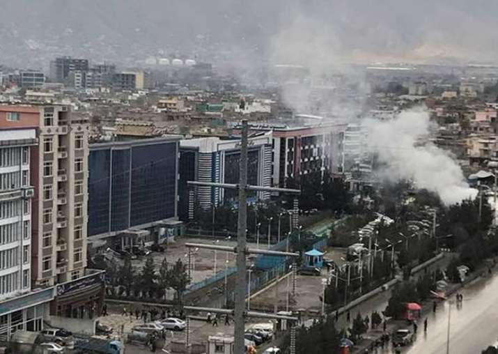 Suicide bomber hits political gathering in Kabul live