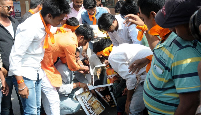 Padmavati row: Protests turn violent as Karni Sena members