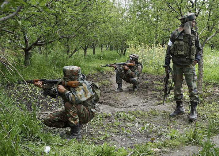 Three terrorists arrested in Kashmir during gunfight,