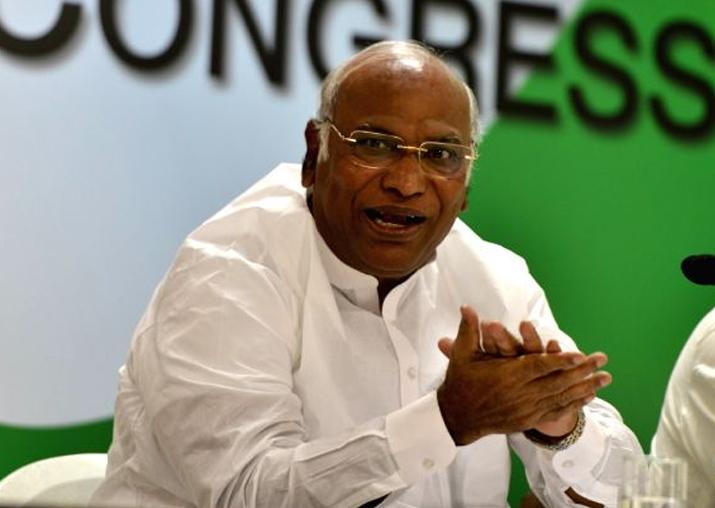 Congress leader in the Lok Sabha Mallikarjun Kharge