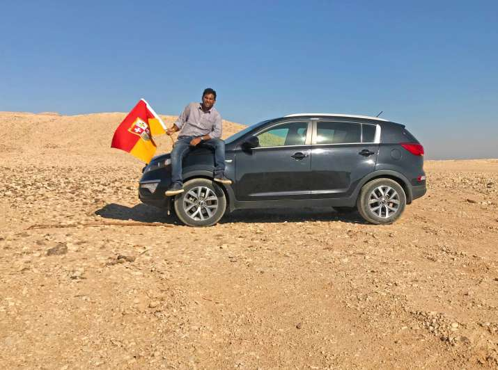 India Tv - Suyash Dixit declared himself KING of unclaimed land on Egypt-Sudan border