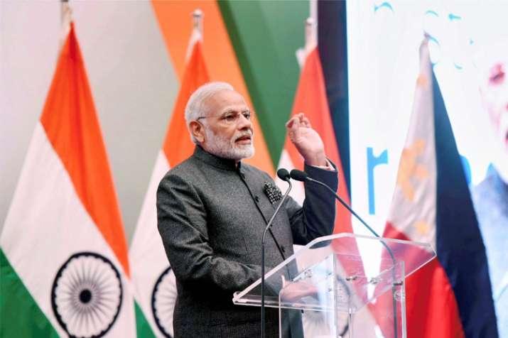 PM Narendra Modi in Manila for the 15th ASEAN Summit