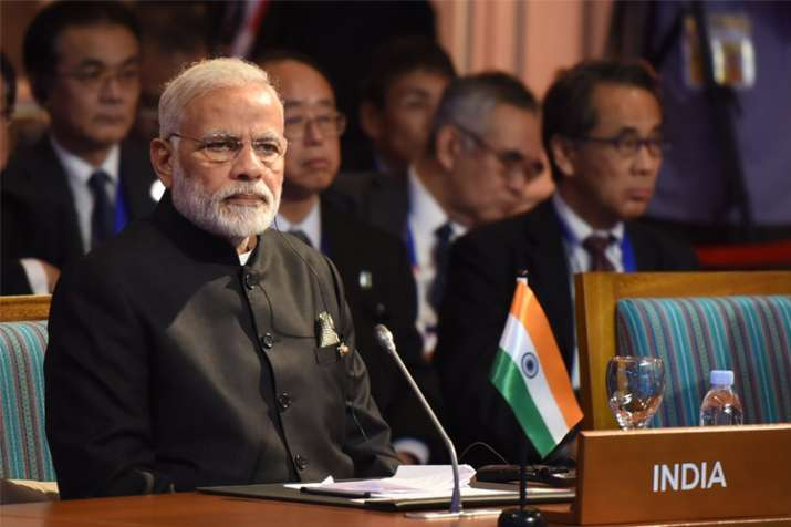 PM Modi during ASEAN-India Summit