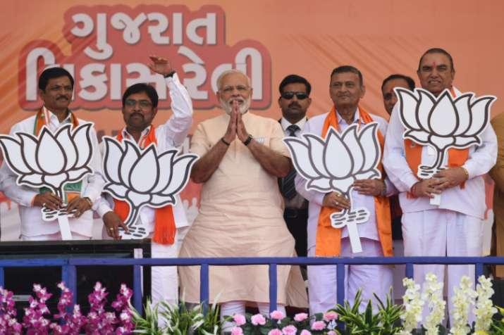 Prime Minister Narendra Modi addressing a public gathering