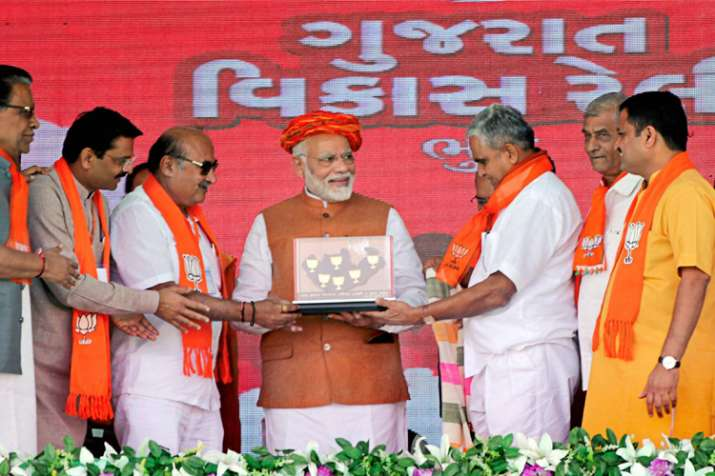 Gujarat polls: Congress celebrating Hafiz Saeed's release,