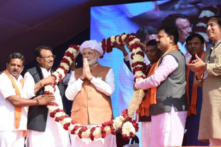 Prime Minister Narendra Modi addressed four back-to-back