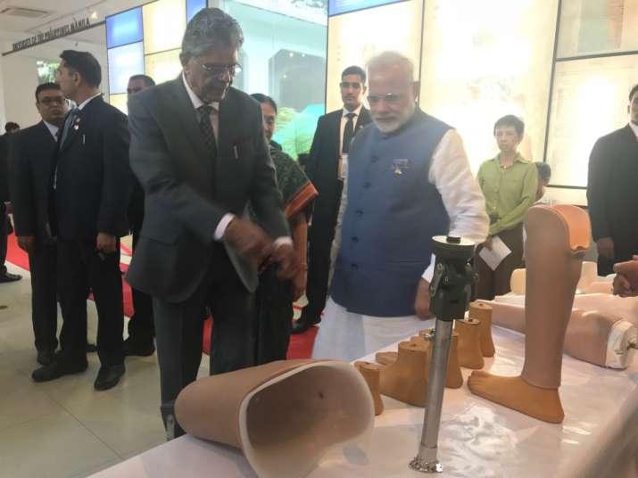 PM Modi visits Mahaveer Foundation giving 'Jaipur Foot' to