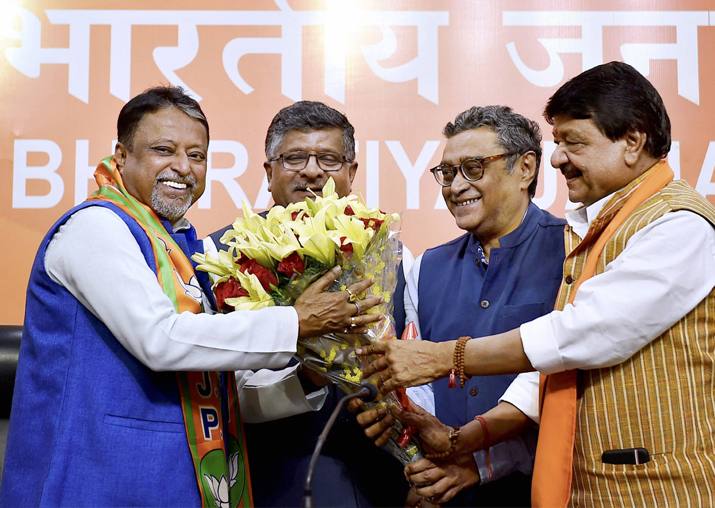 Former Trinamool Congress leader Mukul Roy joins BJP