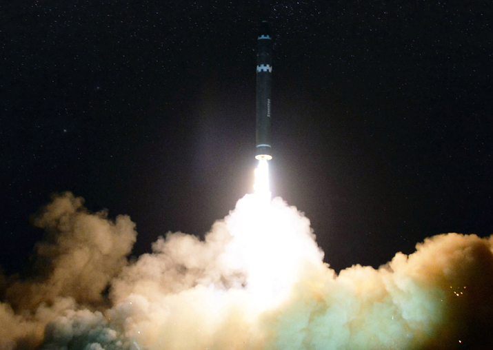 File pic - North Korea launches Hwasong-15 --