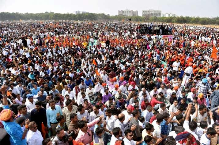 Massive protests in Gujarat's Gandhinagar, Surat demanding