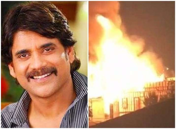 Nagarjuna's Annapurna Studios caught in massive fire