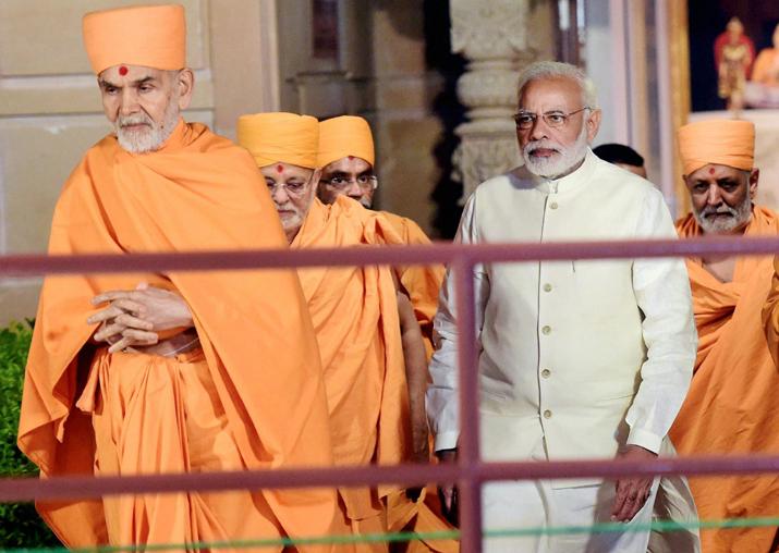 PM Modi visits Akshardham temple in Gandhinagar