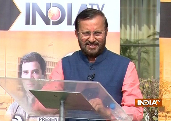 Prakash Javadekar at India TV's Chunav Manch