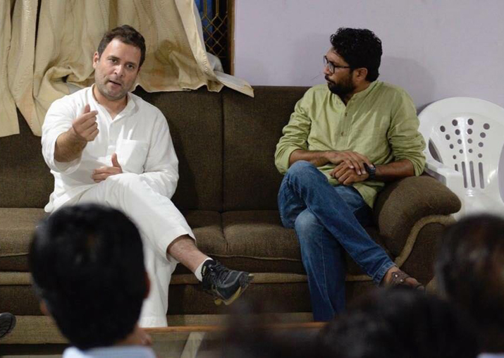 Gujarat polls: Jignesh Mevani meets Rahul Gandhi
