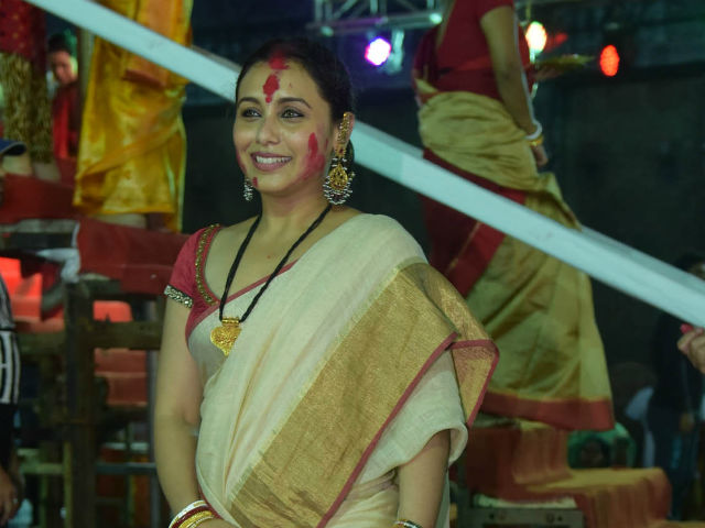 India Tv - Rani Mukerji at Durga Puja 2017
