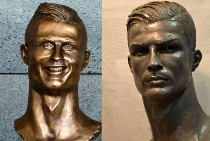 India Tv - The two statues o Ronaldo.