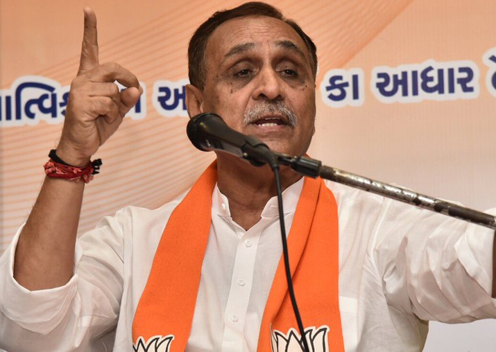 File pic of Gujarat CM Vijay Rupani