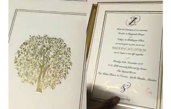 India Tv - Wedding card pictures shared by actress Vidya Malvade
