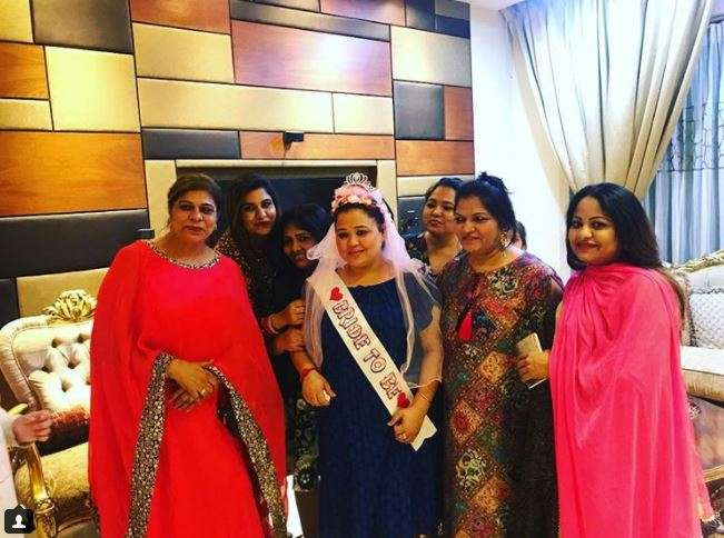 Comedy queen Bharti Singh at her bridal shower