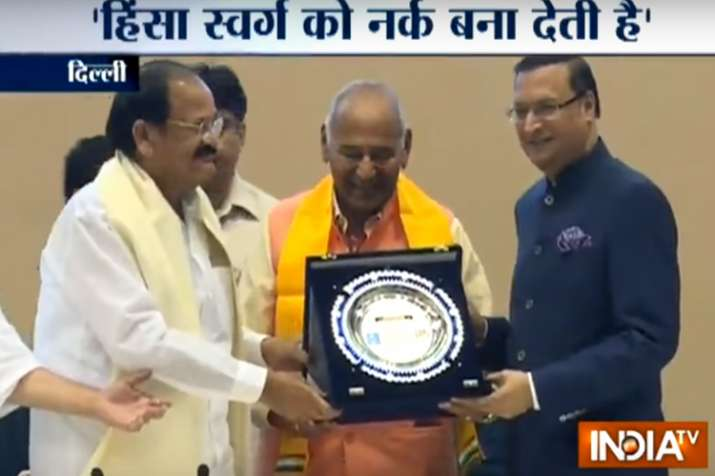 India TV Chairman with Vice President Venkaiah Naidu at