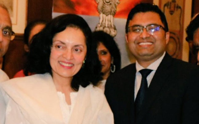 Consul General Shashank Vikram seen with High Commissioner