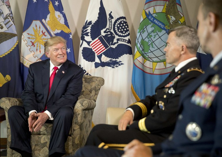 India Tv - Donald Trump attends a briefing at US Pacific Command (PACOM), Friday, Nov. 3, 2017, in Aiea, Hawaii