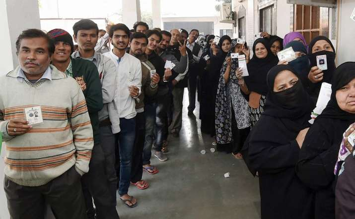 The civic body polls are being held eight months after the