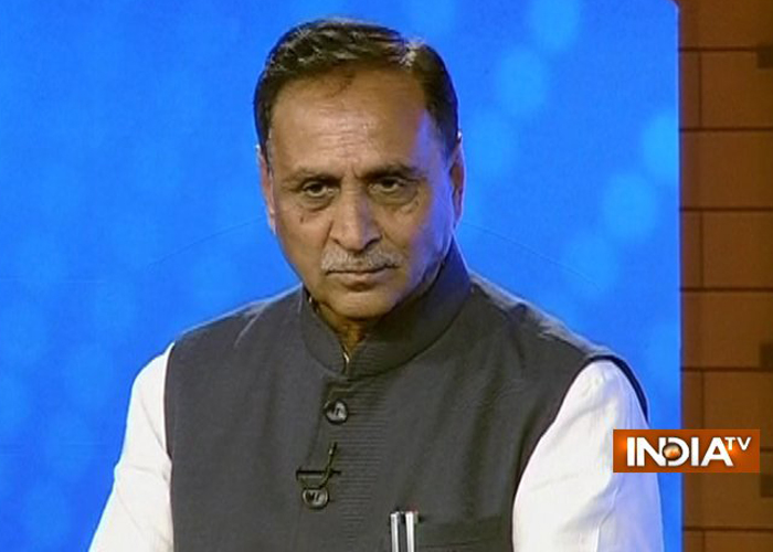Gujarat Chief Minister Vijay Rupani at India TV Chunav