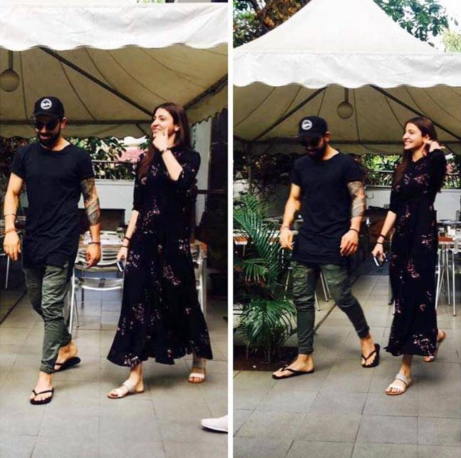 India Tv - Virat and Anushka on a lunch date in Bangalore