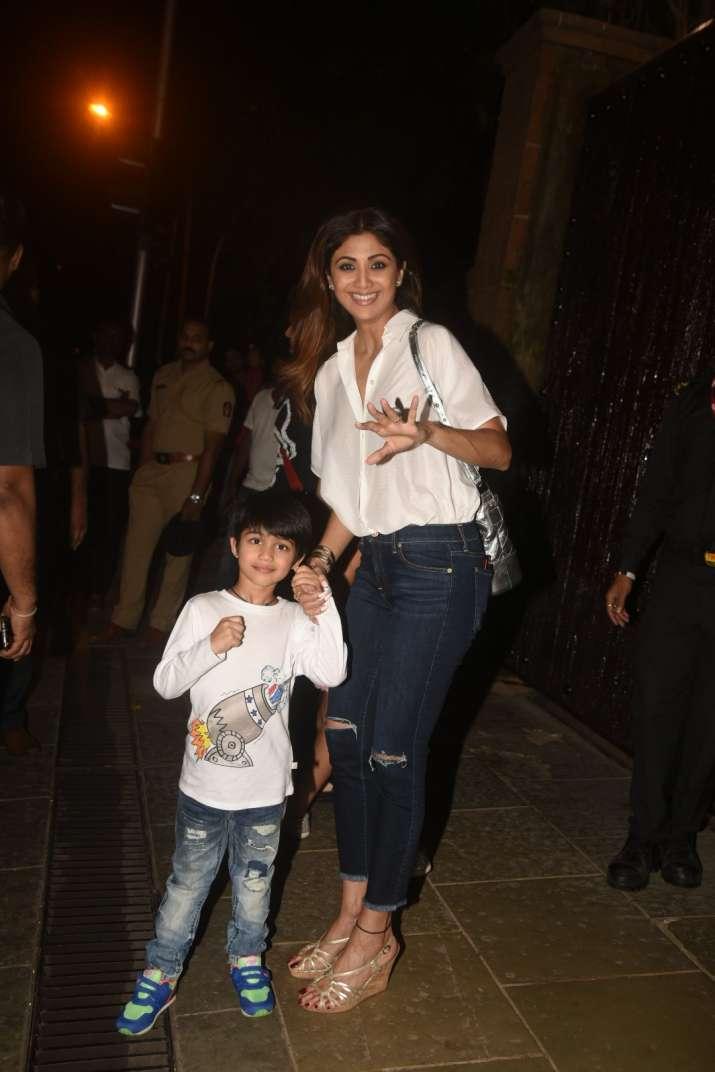 India Tv - Shilpa Shetty with son Viaan