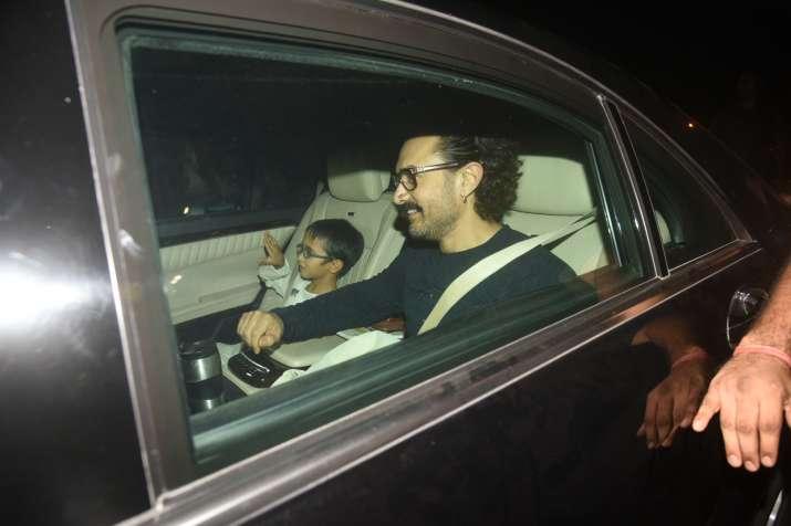 India Tv - Aamir Khan with son Azad