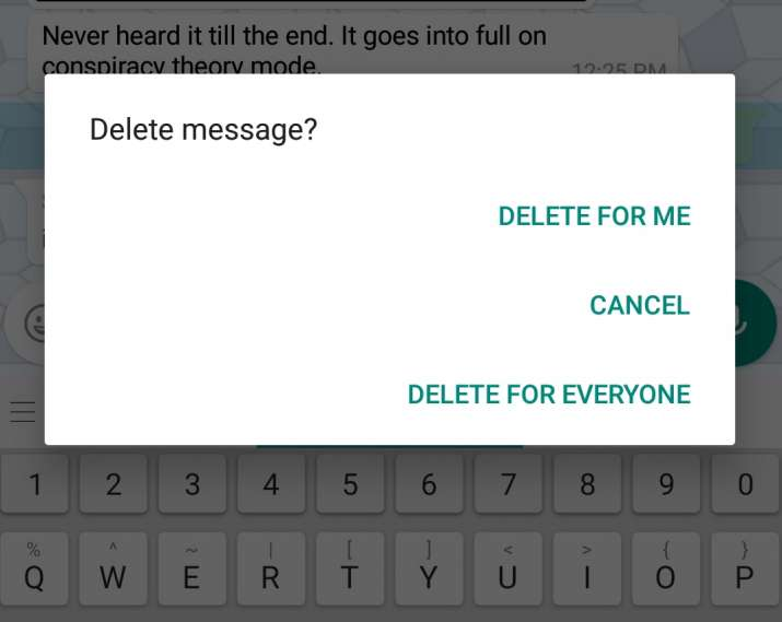 India Tv - WhatsApp rolls out Delete feature