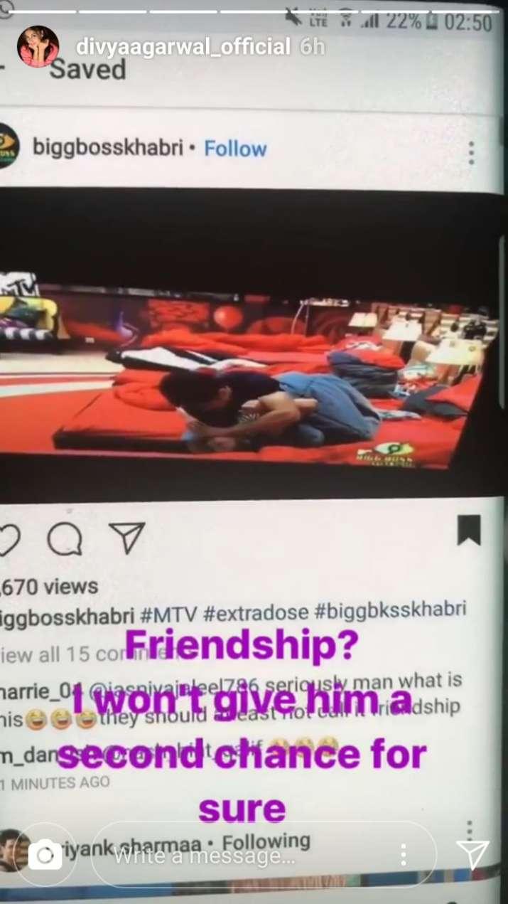 India Tv - Divya Agarwal's Instagram story