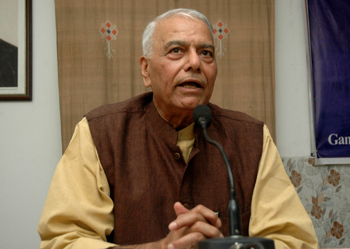 File pic of Yashwant Sinha