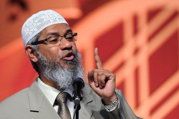 Controversial Islamic televangelist Zakir Naik