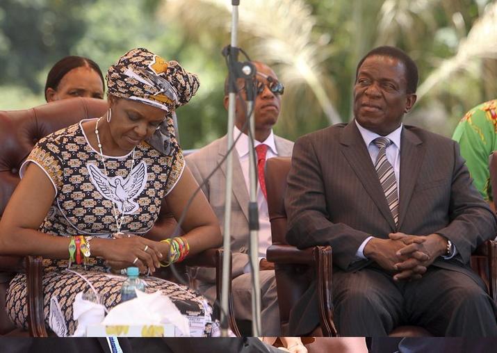 FILE - Zimbabwean first lady Grace Mugabe with Vice