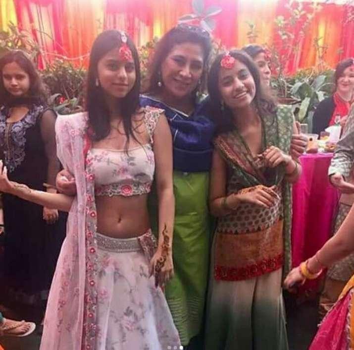 India Tv - Suhana Khan at Delhi wedding