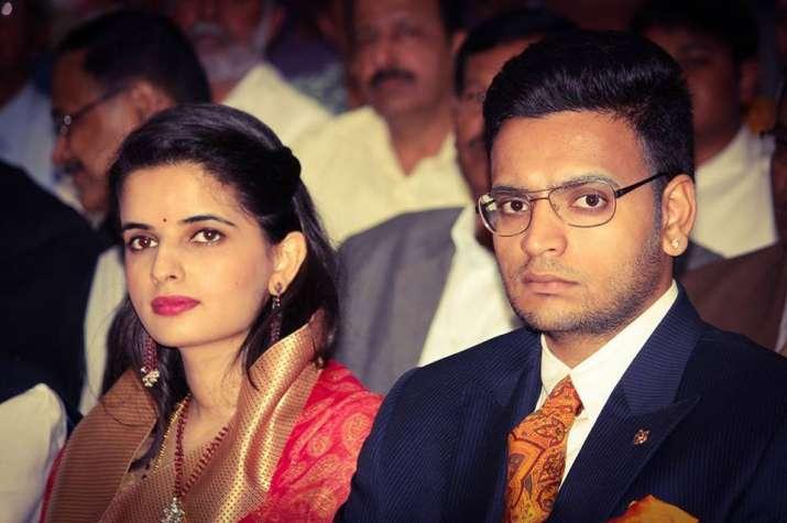 India Tv - Maharaja of Mysuru along with his wife