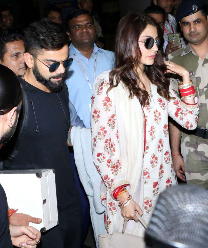 India Tv - Virat Kohli, Anushka Sharma at Mumbai airport