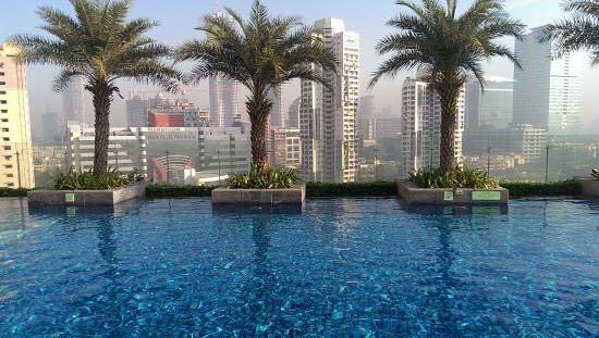 India Tv - Infinity pool at St. Regis Hotel Mumbai