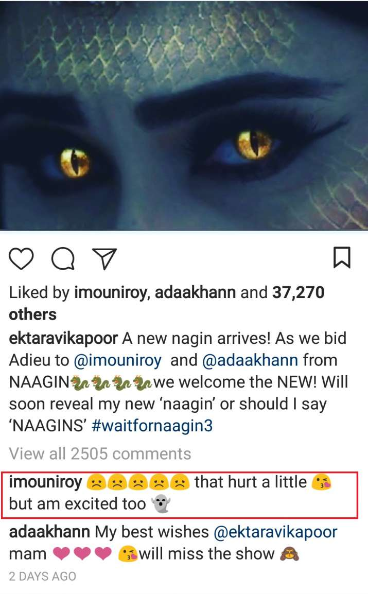 India Tv - Mouni Roy's comment on Ekta Kapoor's post