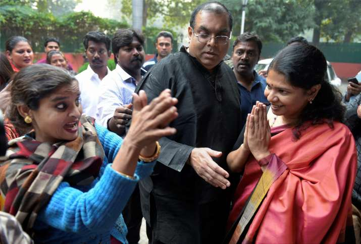 India Tv - Karunanidhi's daughter Kanimozhi after acquittal in 2G spectrum case
