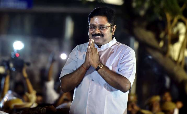 Sidelined AIADMK leader T T V Dhinakaran after winning the