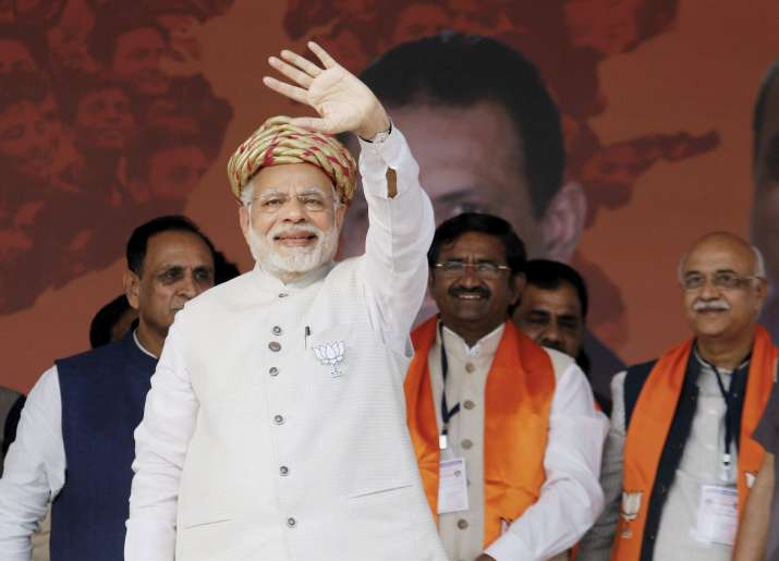 PM Modi says Congress trying to divide society, mocks party