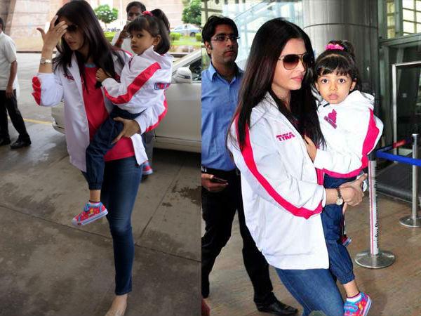 India Tv - Aishwarya Rai and Aaradhya in matching outfits