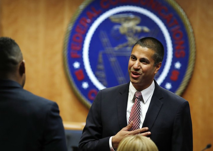India Tv - Federal Communications Commission (FCC) Chairman Ajit Pai at an FCC meeting to vote on net neutrality
