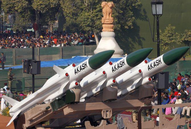 Akash missile - File photo